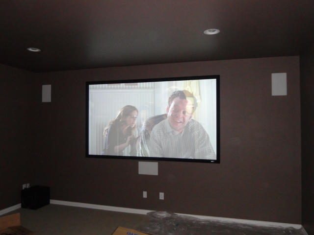 fixed frame home theater projection screen