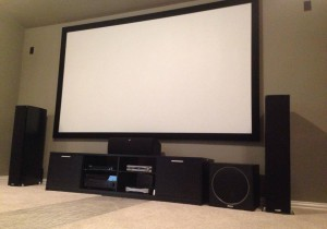 "Polk Audio Rti Series speakers, 120"" Severtson Screen"