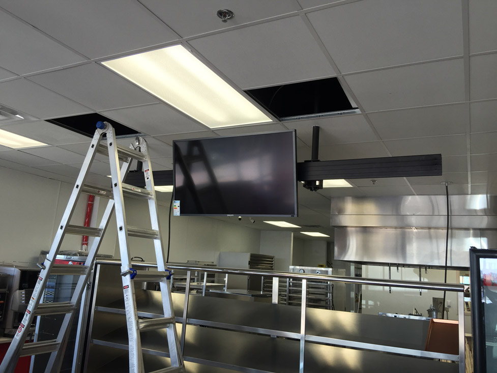Tv Menu Board Install With Chief Mount