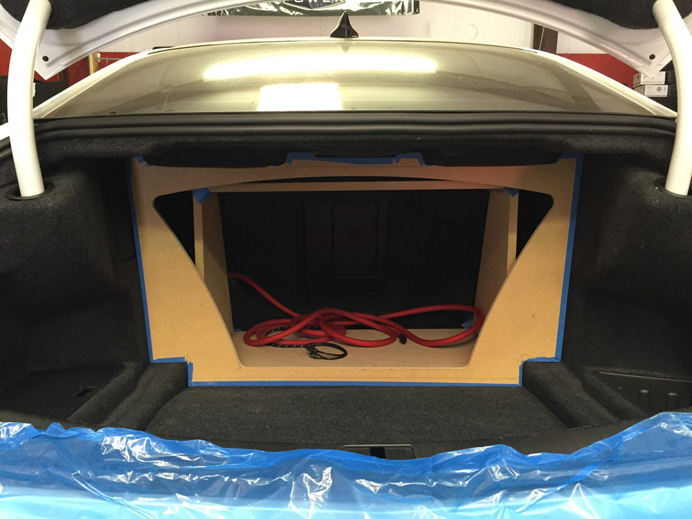 2016 Cadillac Cts V With Custom Enclosure And 13 U0026quot  Rockford Power Series