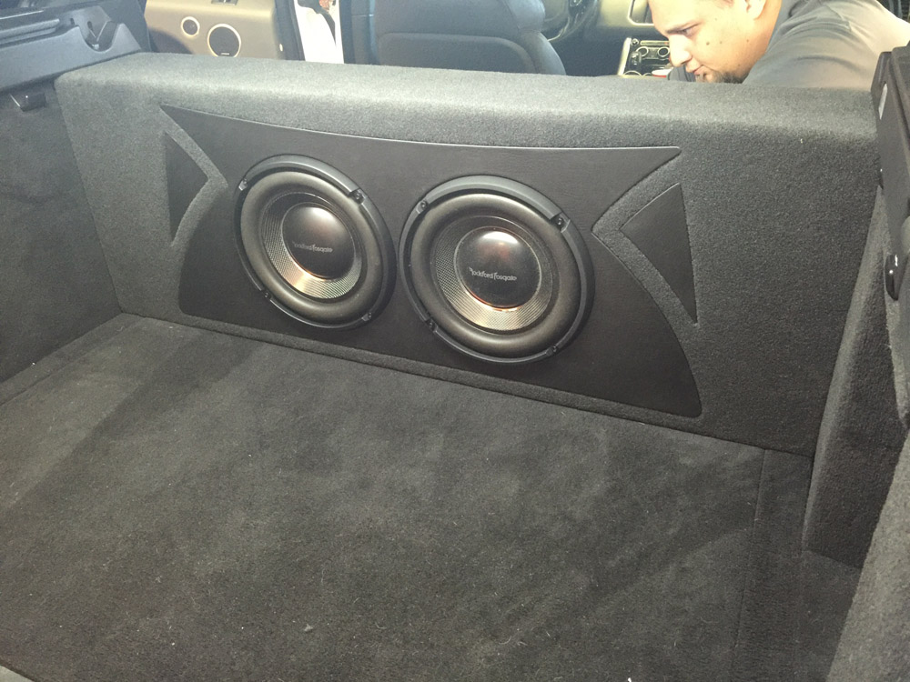 2013 Range Rover With Rockford Fosgate T1 10 Quot Slim Subs