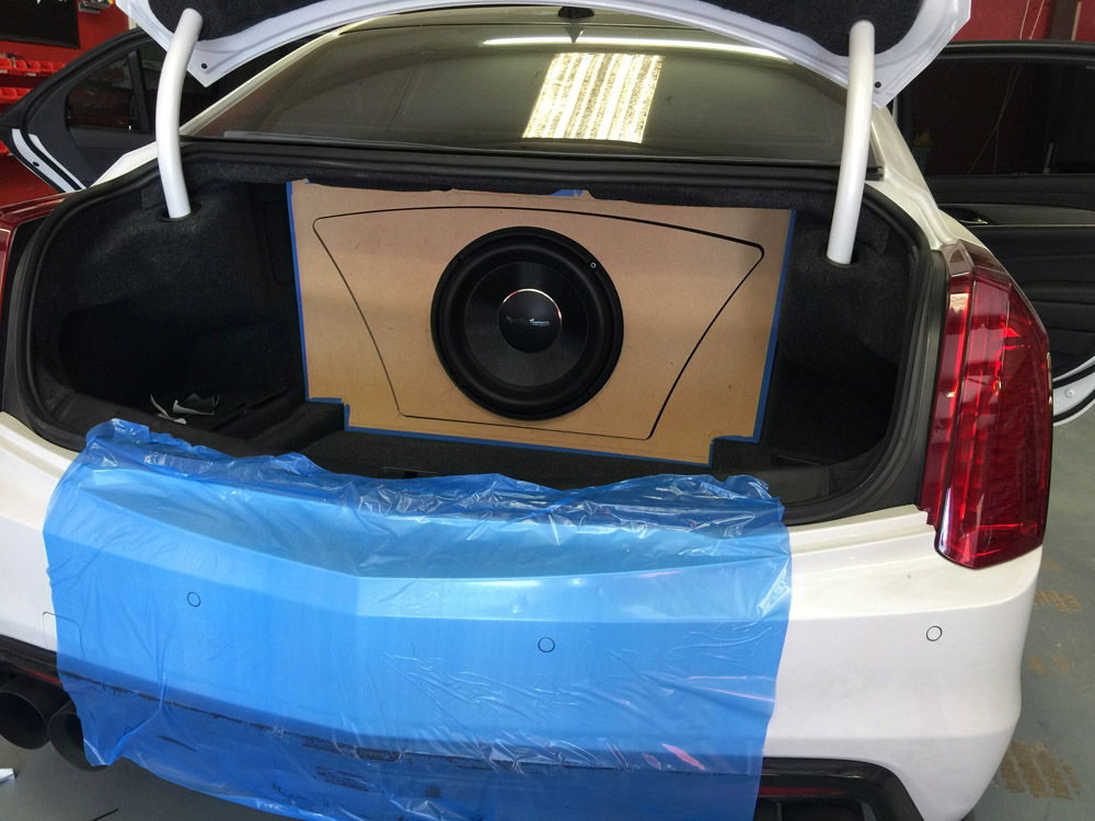 2016 Cadillac Cts V With Custom Enclosure And 13 Quot Rockford